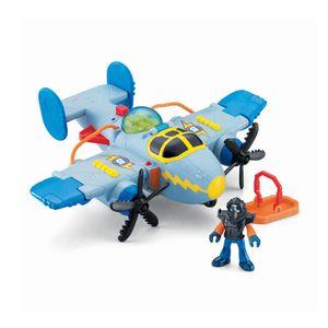 Imaginext Super Aviões Sky Racer Tornado Cinza - Mattel
