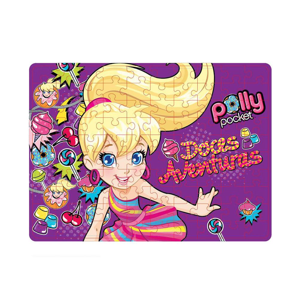 Quebra-Cabeça Polly Pocket Doces Aventuras 100 Peças