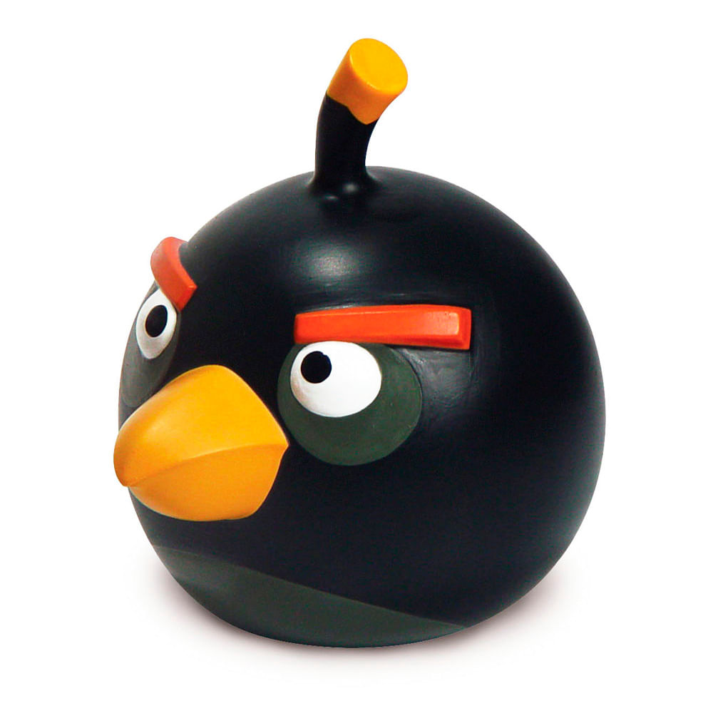 boneco angry birds bomb toymania toymania. Black Bedroom Furniture Sets. Home Design Ideas