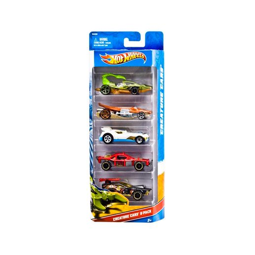 Hot-Wheels-Com-5-Carros-Creature-Cars