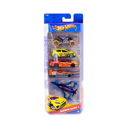 Hot-Wheels-Com-5-Carros-Daredevil-Racers