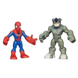 Playskool-Marvel-Super-Hero-Homem-Aranha-e-Rhino