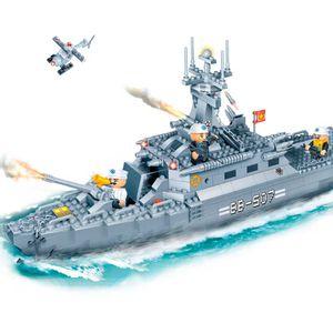 Forca-Tatica-Navio-de-Guerra-458-Pecas---Banbao-