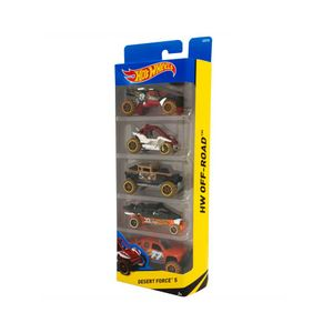 Hot-Wheels-Pacote-Presente-com-05-Desert-Force---Mattel