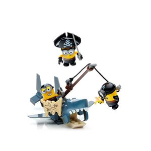 Mega-Bloks-Minions-Conjunto-Isca-de-Tubarao---Mattel-