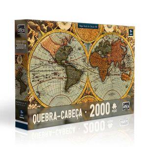 Quebra-Cabeca-Mapa-Mundi-do-Seculo-XVII-2000-Pecas---Toyster
