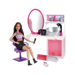 Barbie Fashion Salão Estilo e Brilho Morena - Mattel
