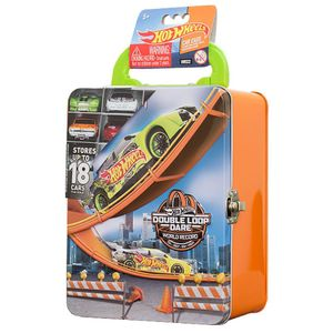Hot-Wheels-Maleta-Metalica-Laranja---Porta-Carrinhos---Intek