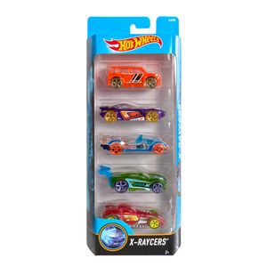 Hot-Wheels-Pacote-Presente-com-5-Carros-X-Raycers---Mattel