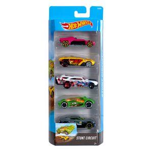 Hot-Wheels-Pacote-Presente-com-5-Carros-Stunt-Circuit---Mattel