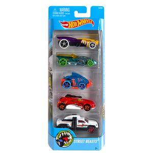 Hot-Wheels-Pacote-com-5-Carros-Street-Beasts---Mattel