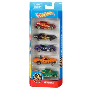 Hot-Wheels-Pacote-com-5-Carros-Flames---Mattel