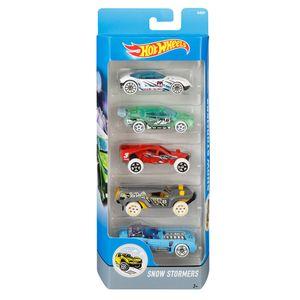 Hot-Wheels-Pacote-com-5-Carros-Snow-Sotrmers---Mattel