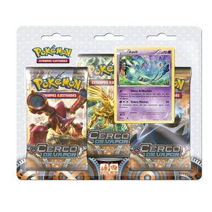 Cartas Pokemon XY11 Blister Triplo de Cerco de Vapor Azelf - Copag