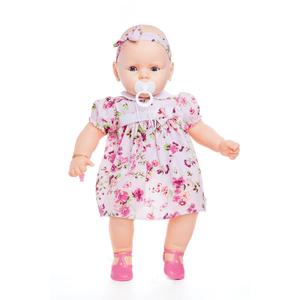 Boneca-Meu-Bebe-Vestido-Rosa-Florido---Estrela