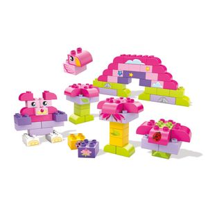 Fisher-Price-Balde-Rosa-Criando-Historias-com-60-pecas---Mattel