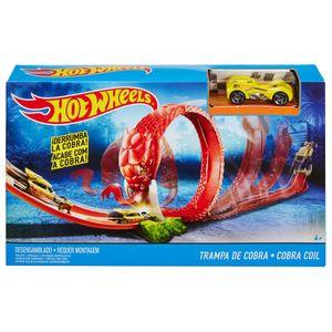 Hot-Wheels-Criaturas-Conjunto-Trampa-de-Cobra---Mattel