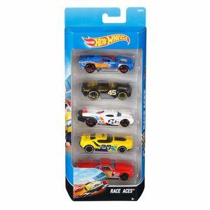 Hot-Wheels-Pacote-Presente-com-5-Carros-Race-Aces---Mattel