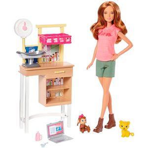 Conjunto-Barbie-Medica-Zoologico---Mattel