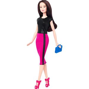 Barbie-Fashionista-Saia-Rosa---Mattel