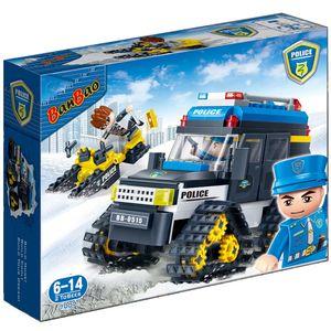Policia-Carro-de-Neve-315-Pecas---Banbao