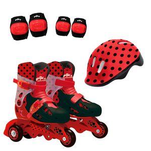 Ladybug-Patins-3-Rodas-com-Acessorios-Tamanho-29-ao-32---Fun-Divirta-se