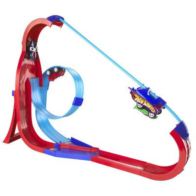 Hot Wheels Super Pista SkyHigh Rev Ups - Mattel