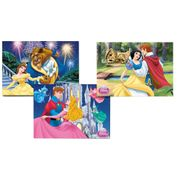 Puzzle Progressivo 16/25/49 Peças Princesas Disney Final Feliz - Grow