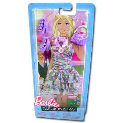 Barbie Fashionista Vestido Florido - Mattel