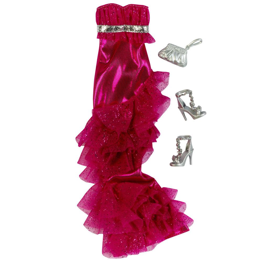 Barbie Fashionista Vestido Rosa - Mattel