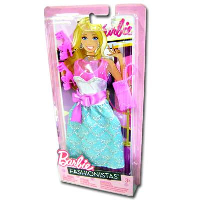Barbie Fashionista Vestido Verde com Laço Rosa - Mattel