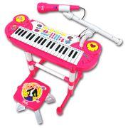 Barbie-Teclado-Eletronico-com-Banco