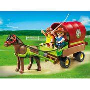 Playmobil-Country-Vagao-Puxado-por-Ponei