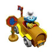 Os-Smurfs-Carro-Rodas-Cinzas