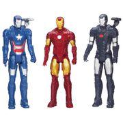 Coleção Bonecos Iron Man Patriot Machine - Hasbro