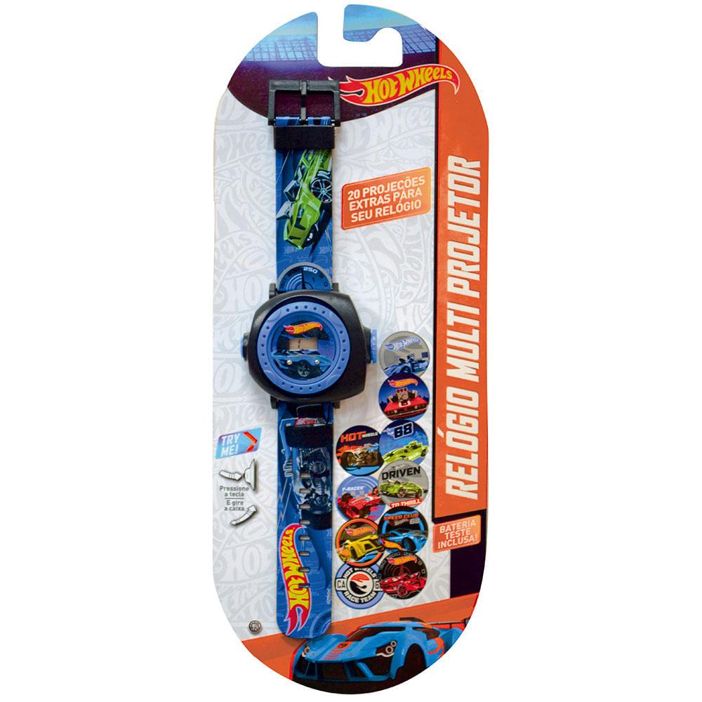 0b5f255679c Hot Wheels Relógio Multi Projetor Com 20 Imagens Azul