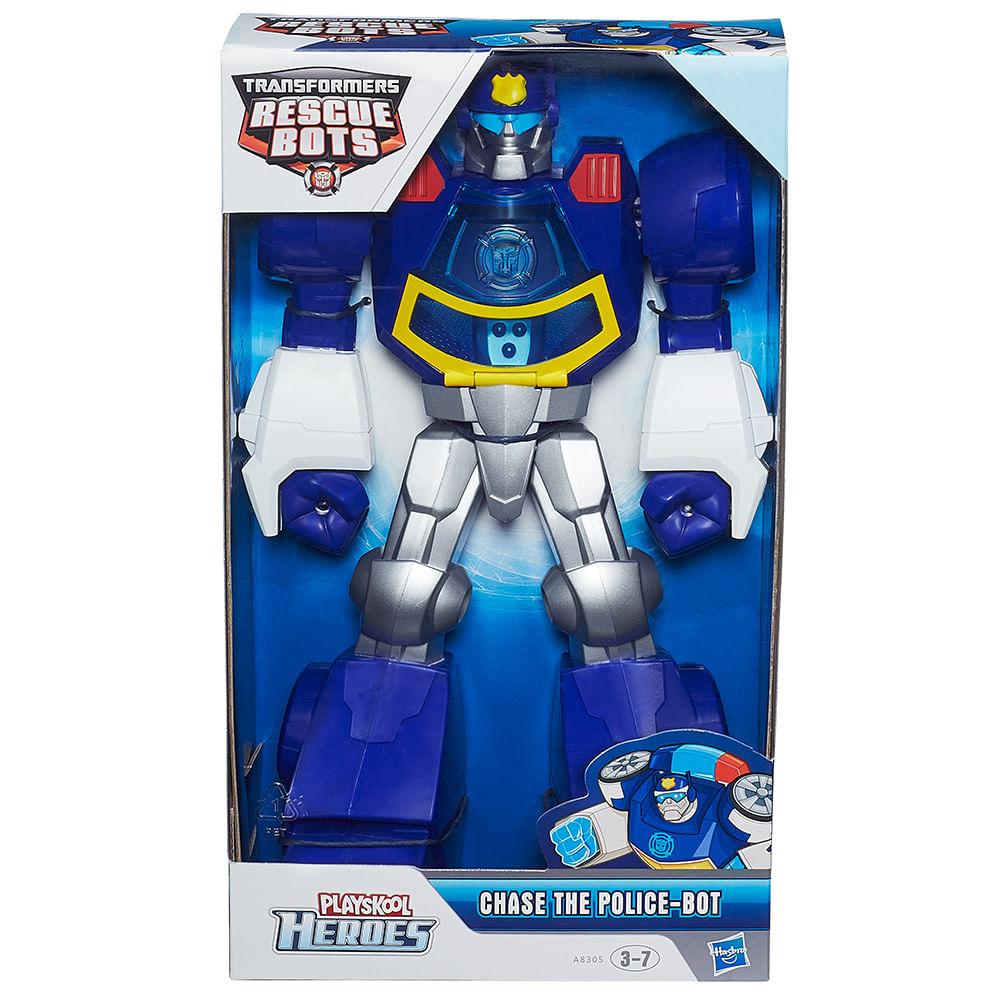 Playskool transformers rescue bots boneco chase 12 - Playskool helmet heroes police officer ...