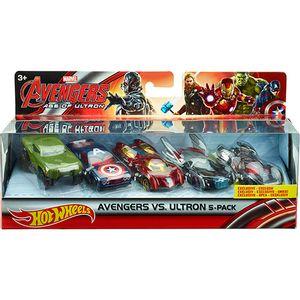 Hot-Wheels-Os-Vingadores-Pacote-com-5-Carros---Mattel-