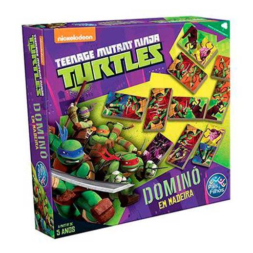 Tartarugas-Ninja-Domino-Tartarugas-em-Madeira---Pais-e-Filhos