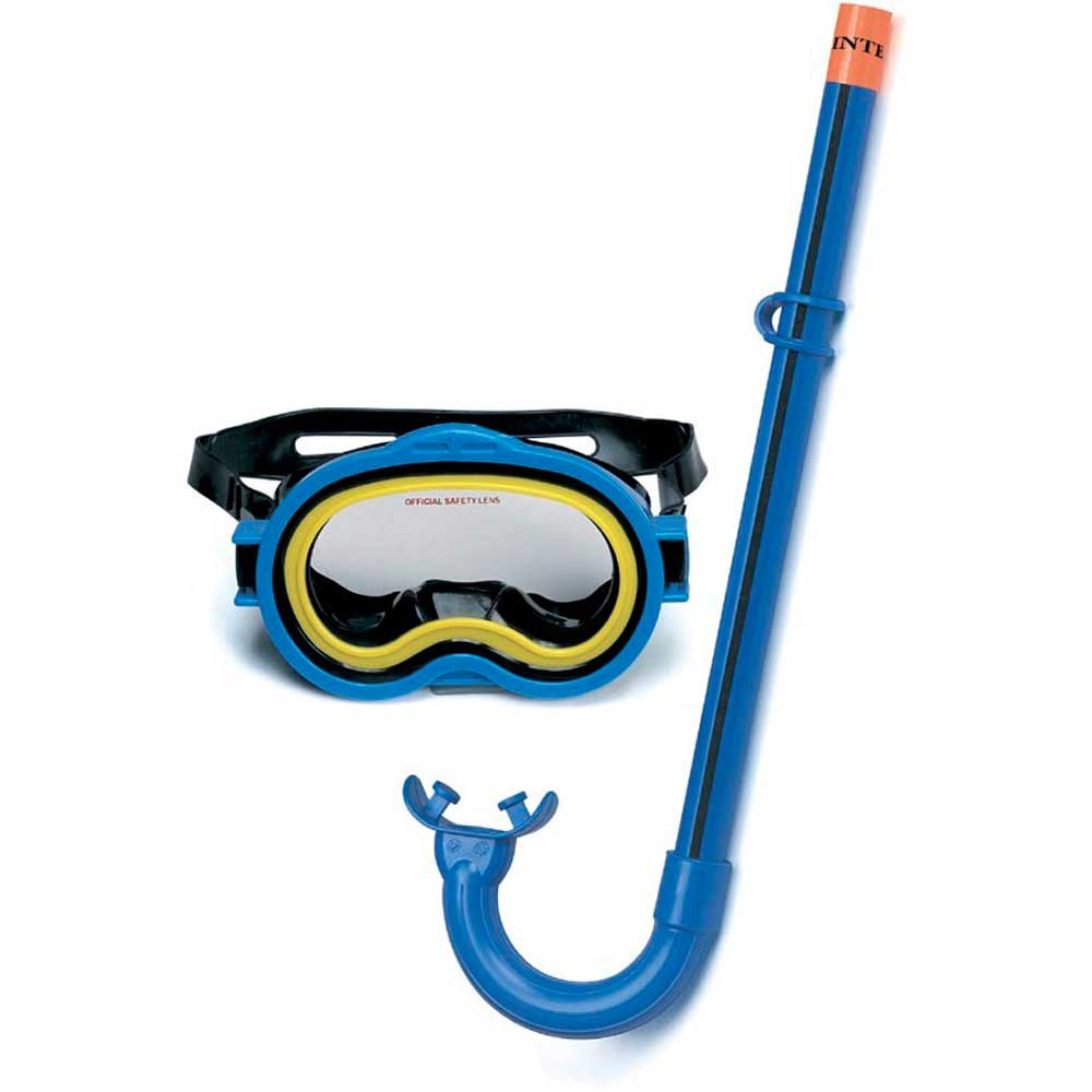 Kit mergulho play aventura oculos respirador intex for Oculos piscina