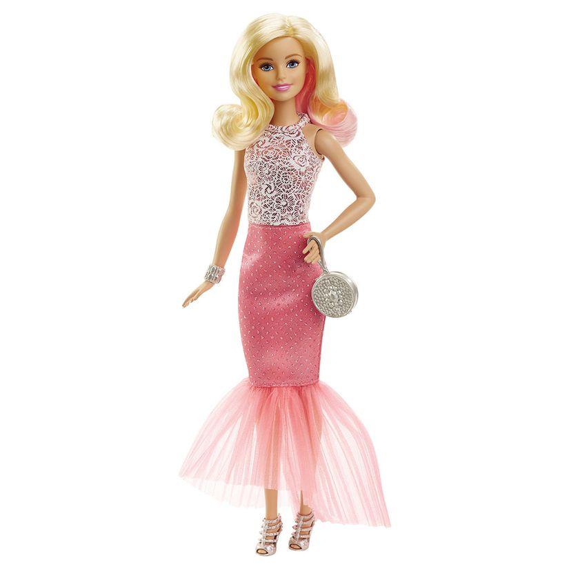 adbcbf5b6b Barbie Vestido rosa Claro - Mattel
