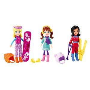 Polly-Pocket-Conjunto-3-Bonecas-Ferias-Diversao-Na-Neve---Mattel