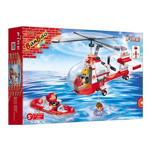 Bombeiro-Helicoptero-de-Resgate-150-Pecas---Banbao
