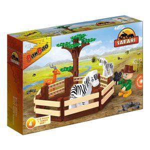 Safari-Cercado-de-Animais-112-Pecas---Banbao