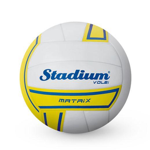 Bola-Stadium-Volei-Matrix-Branco-com-Amarelo---Penalty