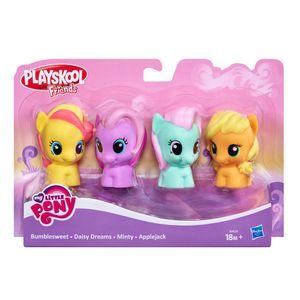 Playskool-My-Little-Pony-com-4-Figuras---Hasbro