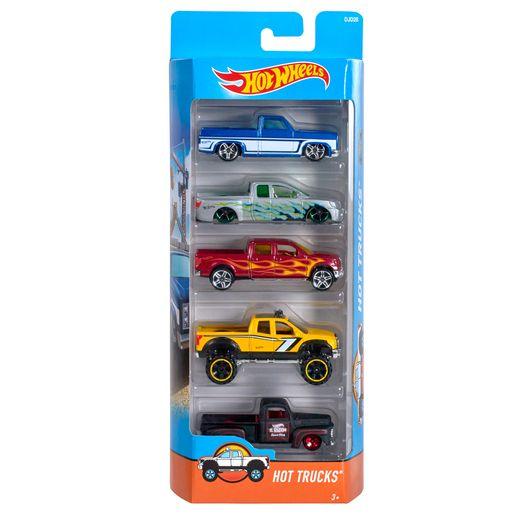 Hot-Wheels-Pacote-com-5-Carros-Truchs---Mattel