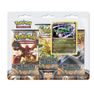 Cartas Pokemons XY11 Blister Triplo Cerco de Vapor Rayquaza - Copag