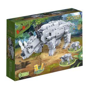 Criaturas-Rinoceronte-295-Pecas---Banbao