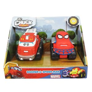 Mini-Carros-Chuck-and-Friends-Boomber-e-Spider-Man---Edimagic